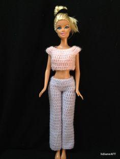 Croche /Calca para barbie - LiiArt