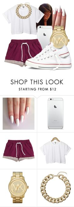"""""""S H A N T A E"""" by honey-cocaine1972 ❤ liked on Polyvore featuring H&M, CC, Michael Kors, Topshop and Converse"""