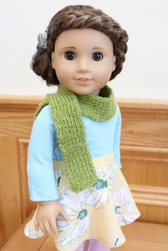 Hairstyle by Clarisse's Closet cute skirt on American Girl doll