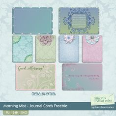 FREE Morning Mist Journal Cards Freebie From Jilbert's bits of bytes