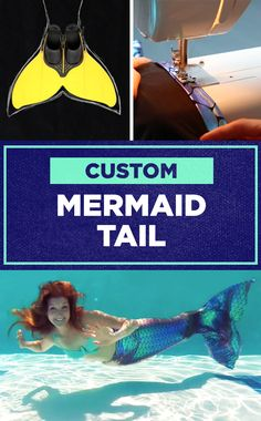 Make your own mermaid tail with this custom DIY!