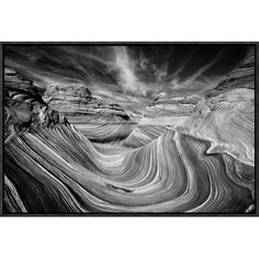Global Gallery 'Liquid Rock - The Wave' by Justin Hofman Framed Photographic Print Size: