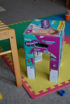 Chair from Pampers box