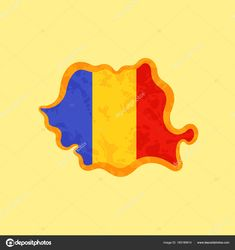 Romania - Map colored with Romanian flag Romanian Flag, Romania Map, 1 Decembrie, Free Maps, World Traveler, Stock Photos, Traditional, Illustration, Model