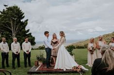 Lush Bohemian Australian Wedding at Maleny Retreat