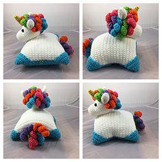 Unicorn Pillow Pal - Crochet Pattern by @lisakingsley4 | Featured at Lisa Kingsley Designs - Sponsor Spotlight Round Up via @beckastreasures | #fallintochristmas2016 #crochetcontest #spotlight #crochet #roundup