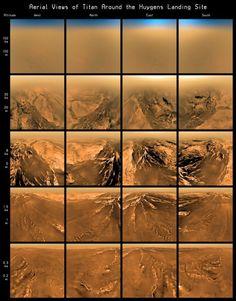 Infografía del descenso de Huygens - ESA Titán
