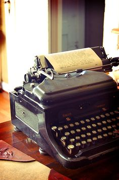 Typewriter; I want an old vintage one in my office of my house!
