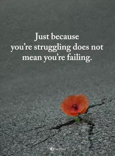 Just because you're struggling doesn't mean you're failing!