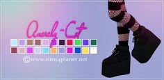 PHIXIL Sugar Plataform Shoes at Anarchy-Cat • Sims 4 Updates