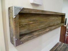 industrial wall display shelf