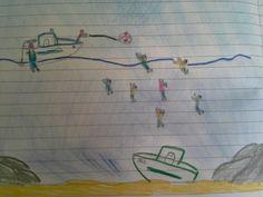 Il barcone affondato come un mostro, le fiamme, i         migranti nell'acqua. E il sole che, nonostante tutto, splende         alto. Così i bambini della quinta elementare di Lampedusa         raccontano il naufragio di giovedi.