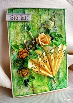 Craft Hoarders Anonymous Challenge Blog: MARCH FAVORITES!, Card with umbrella and flowers