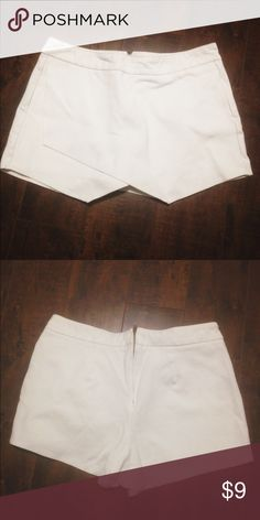 Perfectly white origami skirt/skort Not see through and of good quality. Wish it still fit me. No flaws, like new condition. Skirts