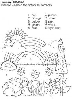 Looking for a Colour Worksheets For Kids. We have Colour Worksheets For Kids and the other about Emperor Kids it free. English Worksheets For Kids, English Lessons For Kids, Kids English, Preschool Worksheets, Preschool Activities, Spanish Worksheets, English Activities For Kids, English English, Kindergarten Learning
