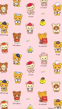 Rilakkuma Wallpaper, Kawaii Wallpaper, Polymer Clay Kawaii, Polymer Clay Animals, Cactus Drawing, Nike Shoes Air Force, Cute Characters, Sanrio Characters, Kawaii Drawings