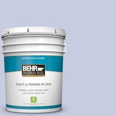 BEHR Premium Plus 5-gal. #620C-2 Lilac Bisque Zero VOC Satin Enamel Interior Paint