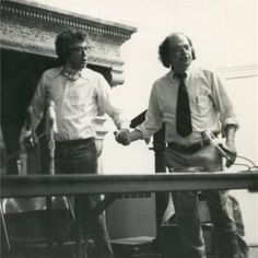 Kenneth Koch (left) with Allen Ginsberg Allen Ginsberg, New York School, Writer, Poetry, Articles, Writers, Poetry Books, Authors, Poem