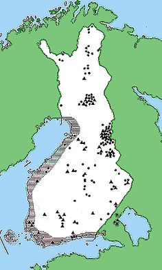 Suomen asutus pronssikaudella  Kuva: Museovirasto