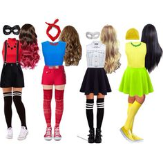 Repin and like if you know what these costumes are from ❤️❤️ || I WOULD TOTALLY WEAR THE DR. FLUKE ONE!!||