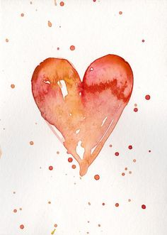 Buy Valentine Heart 44 - Watercolor Painting by Kathy Morton Stanion, Watercolor by Kathy Morton Stanion on Artfinder. Discover thousands of other original paintings, prints, sculptures and photography from independent artists. Watercolor Hand Lettering, Watercolor Heart, Watercolor Paintings, Easy Watercolor, Watercolor Cards, Watercolor Illustration, Watercolour, Original Paintings, Valentines Watercolor