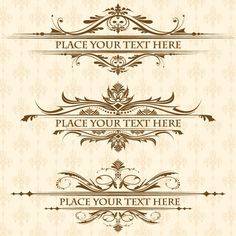 European style Decorative pattern Lacy vector 01