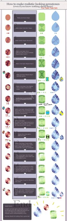 Realistic gemstone tutorial - Paint Tool SAI by *longestdistance on deviantART ✤ || CHARACTER DESIGN REFERENCES | キャラクターデザイン |  • Find more at https://www.facebook.com/CharacterDesignReferences & http://www.pinterest.com/characterdesigh and learn how to draw: concept art, bandes dessinées, dessin animé, çizgi film #animation #banda #desenhada #toons #manga #BD #historieta #strip #settei #fumetti #anime #cartoni #animati #comics #cartoon from the art of Disney, Pixar, Studio Ghibli and more…