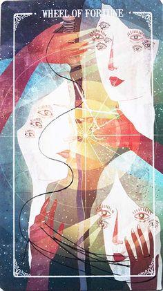 Wheel Of Fortune Tarot, King Card, Fortune Cards, Major Arcana Cards, The Hierophant, Tarot Card Meanings, Funny Art, Tarot Decks, Artist Art
