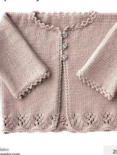 Heirloom Layette- Blanket Bonnet Sweater - All Hair Styles Knitted Baby Cardigan, Knit Baby Sweaters, Knitted Baby Clothes, Baby Sweater Patterns, Baby Knitting Patterns, Baby Patterns, Knitting For Kids, Knit Crochet, Needle Lace