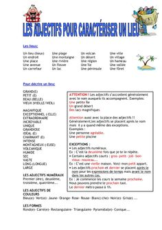 Les adjectifs Ap French, Learn French, Learn English, French Flashcards, French Worksheets, French Language Lessons, French Lessons, French Adjectives, French Course