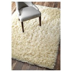 nuLOOM 100% Wool Hand Woven Genuine Greek Flokati Area Rug - Off-White (6' x 9'), Off White