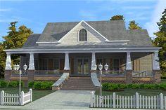 Craftsman Style House Plan - 3 Beds 2.5 Baths 2366 Sq/Ft Plan #63-343 Exterior - Front Elevation - Houseplans.com