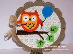 cute owl card perfect for my owl stamps