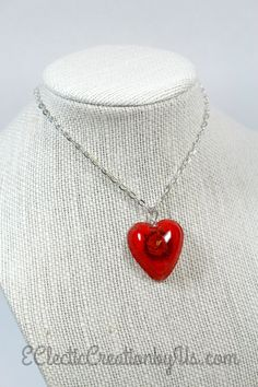 Heart Necklace Preserved Flower by EClecticCreationbyUs on Etsy