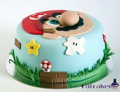 New Birthday Cake Boys Fondant 43 Ideas Super Mario Party, Bolo Super Mario, Luigi Cake, Mario Bros Cake, Mario Birthday Cake, Super Mario Birthday, Mario E Luigi, Cakes For Boys, Cupcake Cakes