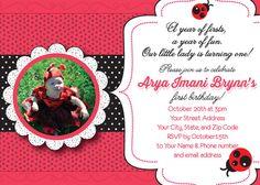 Our Little Lady  Ladybug Birthday Invitation by PicklePotamusPress, $15.00