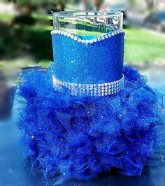 Check out this item in my Etsy shop https://www.etsy.com/listing/463273572/royal-blue-wedding-centerpiece-vase