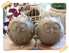 Most current Screen Slab Pottery animals Style Garten-Keramik: Was wohl daraus wird? Clay Owl, Clay Birds, Ceramic Birds, Ceramic Animals, Slab Pottery, Pottery Art, Ceramic Pottery, Cerámica Ideas, Pottery Handbuilding