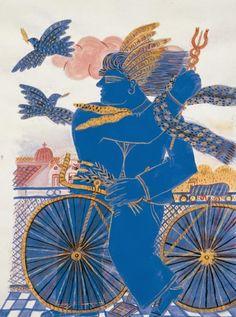 Modern Art, Contemporary Art, Greece Painting, Art Station, Greek Art, Conceptual Art, Artist Art, Urban Art, Cool Artwork