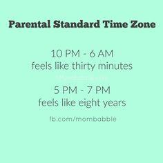 Parental standard time zone