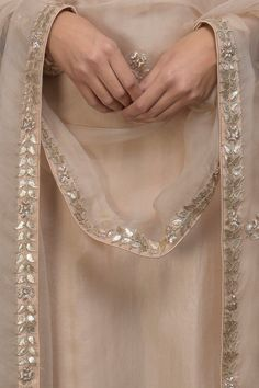 Best 12 Oyster Pink Gota Patti & Zardozi Hand Embroidered Suit with Dupatta Fancy Dress Design, Stylish Dress Designs, Designs For Dresses, Embroidery Suits Punjabi, Kurti Embroidery Design, Embroidery Dress, Designer Party Wear Dresses, Kurti Designs Party Wear, Indian Designer Outfits