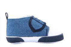 V-SOL Negro Vaquero 13CM Zapatos Algodón+ PU Primeros Pasos De Bebé Para Niños