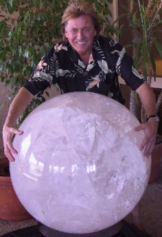 1400 lb. Crystal Sphere - Brazil  WOW! Wouldn't that look nice in a niche (Very largc niche)?!