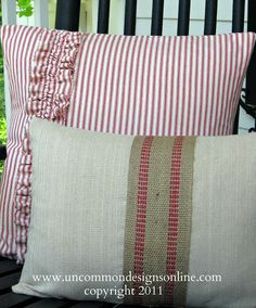 Patriotic Porch Pillows..Now That's a Mouthful! - Uncommon Designs...