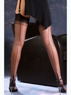 Fully Fashioned Point Heel Stockings - Gio