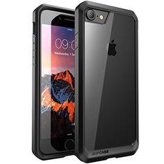Custodia iPhone 7SUPCASE [Unicorn Beetle]  Cover Protettiva con Impact Absorbing Gomma e pannello posteriore completamente trasparente per Apple iPhone 7 ( 2016 ) (Trasparente/Nero)