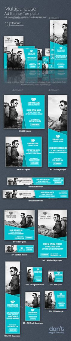 Multipurpose Web Ad Banner Template PSD   Buy and Download: http://graphicriver.net/item/multipurpose-web-ad-banner/8859899?WT.ac=category_thumb&WT.z_author=nazmul57&ref=ksioks