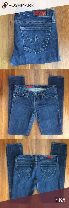 Adriano Goldschmied Stilt Jeans Size 27 AG stilt jeans. Skinny. The tag on the inside says irregular.  The zipper was missing when I bought them. I had the zipper replaced. They are just a bit snug post partum. Like new condition. Adriano Goldschmied Jeans Skinny
