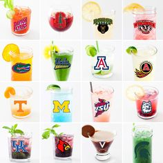 March Madness: The Sweet Sixteen in Cocktail Form via Brit + Co. Tea Cocktails, Fun Drinks, Yummy Drinks, Beverages, Chocolate Vodka, Sixteen Candles, Bar Spoon, Sweet 16 Gifts, Oranges And Lemons