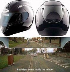 The Reevu FSX1. Bad ass helmet with a rear view screen!